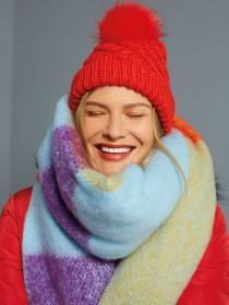Womens Multicolour Oversized Scarf