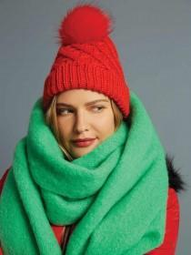 Womens Green Oversized Scarf
