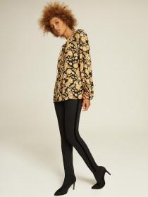Womens Mustard Floral Smock Top