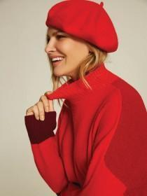 Womens Red Beret Hat