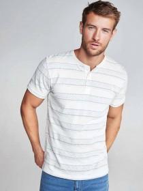 Mens Cream Stripe T-Shirt