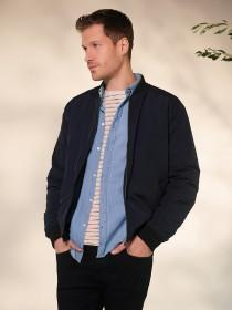 Mens Navy Bomber Jacket