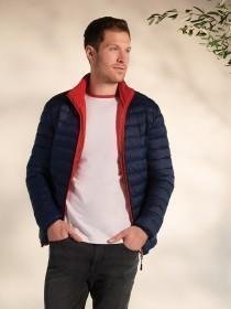 Mens Navy Padded Lightweight Jacket