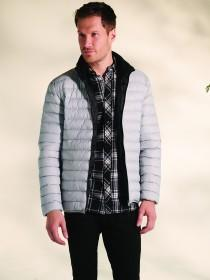 Mens Grey Padded Lightweight Jacket