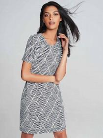 Womens Monochrome Shift Dress