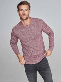 Mens Red Marl Jumper
