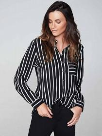 Womens Monochrome Stripe Shirt