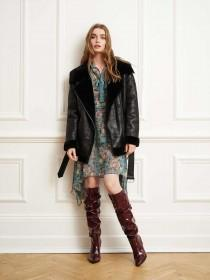 Womens Black Faux Shearling Coat