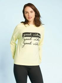 Womens Lemon Slogan Sweater