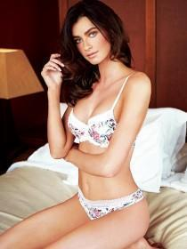 Womens White Floral Bra