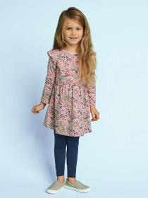 Younger Girls Frill Pink Floral Dress