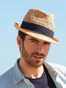 Mens Natural Trilby Hat