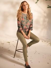 Womens Sage Green Alexa Skinny Jeans