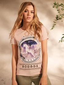 Womens Pale Pink Unicorn T-Shirt