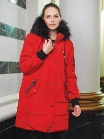 Womens Red Long Line Coat