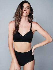 Womens Black Seam Free Non Wired Bra