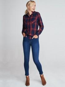 Womens Red and Blue Check Shirt
