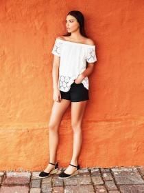 Womens Black Denim Shorts