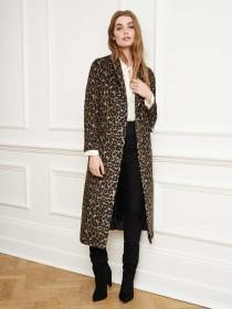 Womens Animal Print Coat