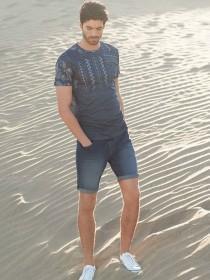 Mens Mid Blue Denim Shorts