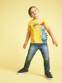 Younger Boys Yellow Monster T-Shirt