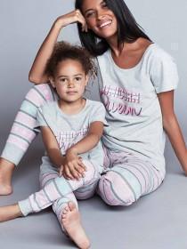 Younger Girls Grey Unicorn Pyjama Set