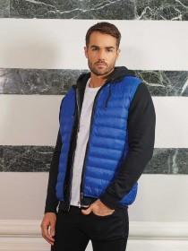 Mens Blue Padded Gilet Jacket