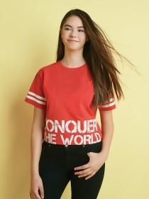 Older Girls Slogan Crop Tee