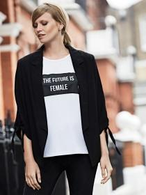 Womens White The Future is Female Slogan T-Shirt