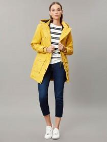 Womens Yellow Borg Lined Rubber Parka