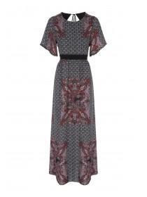 Womens Maxi Lace Trim Dress