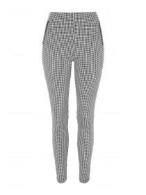 Womens Slim Leg Dogtooth Trousers