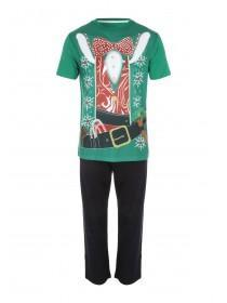 Mens Xmas Novelty Elf Pyjamas
