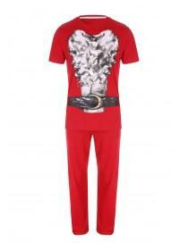 Mens Xmas Novelty Santa Pyjamas