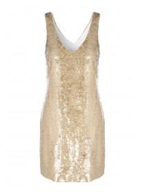 Womens Gold Sequin Dress