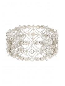 Womens Filigree Crystal Bracelet