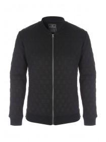 Mens Black Zip Up Bomber Jacket