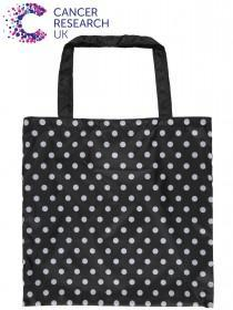 Womens Black Cancer Research UK Bag For Life