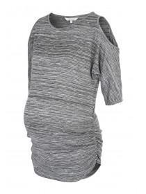 Maternity Cold Shoulder Lurex Tunic