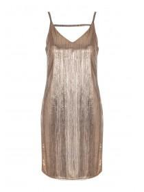 Womens ENVY Metallic Cami Dress