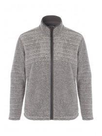 Mens Knitted Funnel Neck Sherpa Fleece Jacket