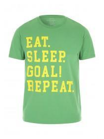 Mens Green Football Slogan T-Shirt