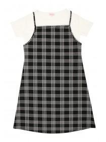 Older Girls Check Dress & T-Shirt Set
