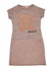 Older Girls Pink OOTD Extreme Hem T-Shirt
