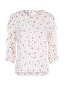 Womens White Lace Insert Top