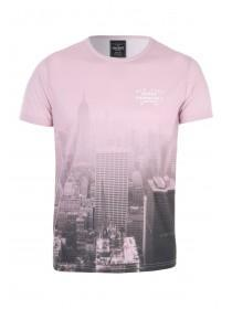 Mens Pink Staten Island Sublimation T-Shirt