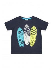 Younger Boys Blue Surfboard T-Shirt