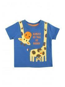 Baby Boys Blue Tall As Daddy T-Shirt