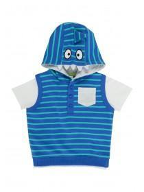 Baby Boys Light Blue 2PC Shark Hoody