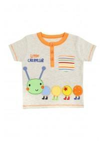 Baby Boys Blue Cool Caterpillar T-Shirt